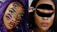 Defalarca baktıran illüzyonlu makyajlar: Yüzüm benim tuvalim