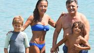 Yılmaz Vural eşi Seda Vural ve oğluyla tatilde