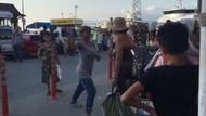 Kocama baktın deyip turist kadına tekme tokat saldırdı