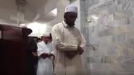 Cami beşik gibi sallanırken namaza devam eden cemaat olay oldu