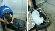 Sarp Sınır Kapısı'nda valizden kadın çıktı!