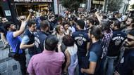 Tünel Meydanı'nda izinsiz eylem yapan guruba polis müdahale etti