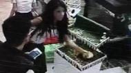 Yavru tavşanı çaldı kameraya yakalandı