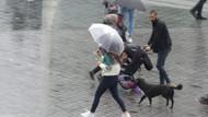 Taksim'e kış geldi! Aniden soğuyan hava İstanbullulara zor anlar yaşatıyor