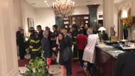 ABD'de Türk gazetecilerin kaldığı otelde yangın şoku