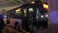 Mecidiyeköy'de halk otobüsü köprü ayağına çarptı! Çok sayıda yaralı var