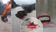 İzmir'i sağanak vurdu! 1 aylık yağmur üç günde yağdı...