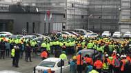 Başakşehir Şehir Hastanesi inşaatında binlerce işçi eylemde
