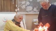 Eşref Kolçak'a hastanede sürpriz doğum günü
