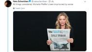 Freedom House'dan Hollywood ünlüleri ile röportaj yapan Sabah'a gönderme
