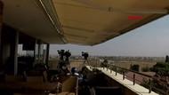 YPG gazetecilerin bulunduğu binayı vurdu! İşte o an