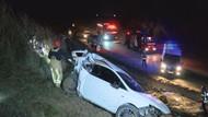 Yoldan çıkan otomobil 200 metrelik şarampole yuvarlandı: 2 ağır yaralı