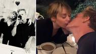 Miley Cyrus sevgilisi ile mutluluk pozları verdi