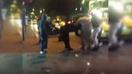 Taksim'de ortalık karıştı! İki kadın saç saça baş başa kavga etti