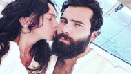 Hande Ataizi'den sevgilisi Dinç Aydoğdu ile öpücüklü aşk pozu
