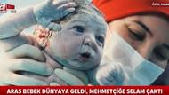 A Haber'in doğar doğmaz asker selamı veren bebek haberi sosyal medyayı salladı