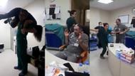 Acil serviste doktor ve hemşirelerden köpük partisi