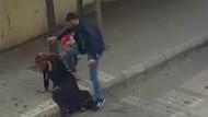Dehşete düşüren görüntüler! Sokak ortasında kadına şiddet