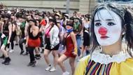 Şili'de kadınlardan danslı eylem