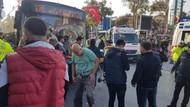Beşiktaş'ta otobüs durağa daldı! Yaralılar var