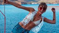 Kadın'daki Ceyda beyaz bikini giydi! Yazdan kalma pozları yıktı
