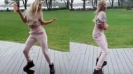 Aleyna Tilki'den yağmur altında iç çamaşırsız dans videosu