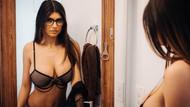 Gelin Olmuş Gidiyor! Porno Yıldızı Mia Khalifa'dan gelinlikli paylaşım