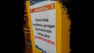 Üniversitede skandal afiş! Genel ahlaka uymayan giremez