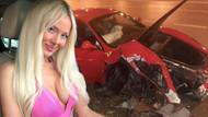 Cansu Taşkın lüks aracıyla elektrik direğine çarptı