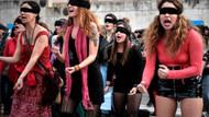 Yunan kadınlardan erkek şiddetine Las Tesis protestosu