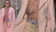 Gigi Hadid ve Kaia Garber Paris Moda Haftası'nı salladı