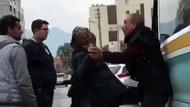 Taciz edildiğini sanan kadın dayak attığı şoförden özür diledi