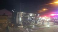 Ankaragücü taraftarını taşıyan otobüs kaza yaptı: 2 ölü, 24 yaralı