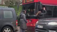 İki kadın ve otobüs sürücüsü birbirine girdi!