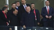 Erdoğan Türkiye Moldova maçını tribünden izledi