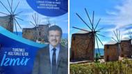 Nihat Zeybekci'nin broşüründen İzmir yerine Yunan adası çıktı
