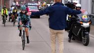 Kadın bisiklet yarışçıları erkekleri yakalayınca yarışa ara verildi