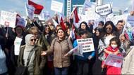 Lösemili çocuklar ve ailelerine bakanlık önünde polis engeli