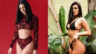 Ünlü model Katy Jo Raelyn havalimanında bikiniyle görüntülendi!