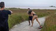 Bikini çekiminde tacizci şoku! Mankenden tekme tokat dayak yedi