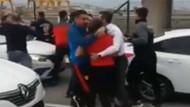 Göztepe'de futbolcular ve taraftarlar birbirine girdi