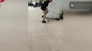 İstanbul Havalimanındaki THY yemekhanesinde fare avı