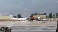 Bodrum'da özel uçak panik yarattı