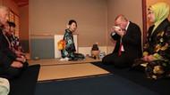 Erdoğan'ın Japonya'da katıldığı çay seremonisinde ilginç anlar