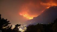 Muğla'da orman yangını saatlerdir sürüyor: Yerleşim alanları tehdit altında