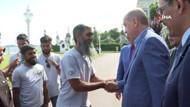 Bisikletle hacca giden 8 İngiliz, Erdoğan ile buluştu