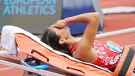 Türkiye rekortmeni milli atlet Şevval Ayaz hastaneye kaldırıldı