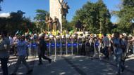 Suriyelilerin İstanbul'daki eyleminde arbede çıktı