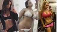 Ünlü kadınlardan seksi trend: Külot ve bikiniyi aşağıya çekip...