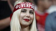 Liverpool Chelsea maçına damga vuran güzeller